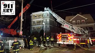 Boston Fire Catastrophic Ladder Failure/Crane Recovery