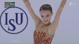 Российская фигуристка Анна Щербакова заняла второе место на чемпионате Европы 2020