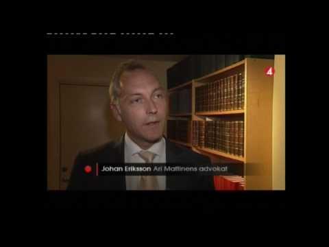 Advokat Johan Eriksson TV4 Nyheter efter avslag på resningsansökan.