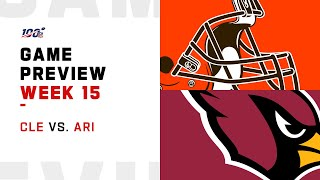 Cleveland Browns vs Arizona Cardinals Week 15 NFL Game Preview