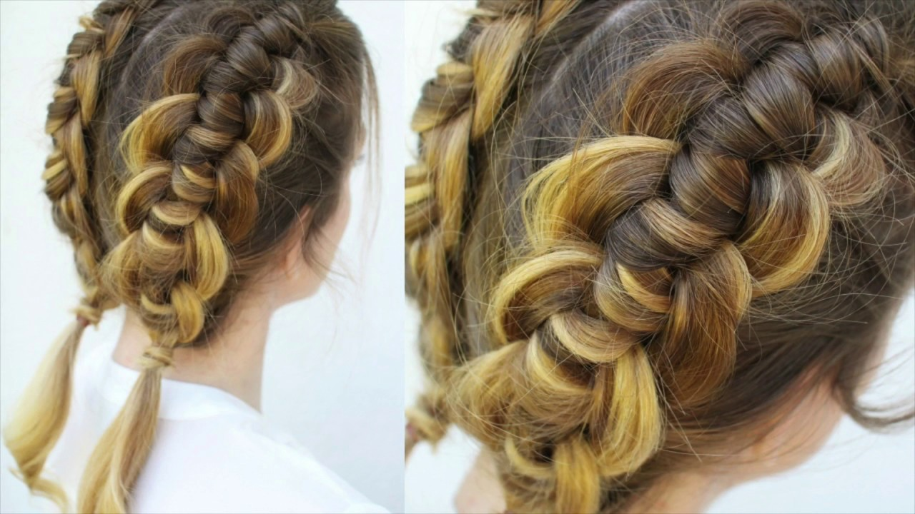 Image result for The double braid knotted bun