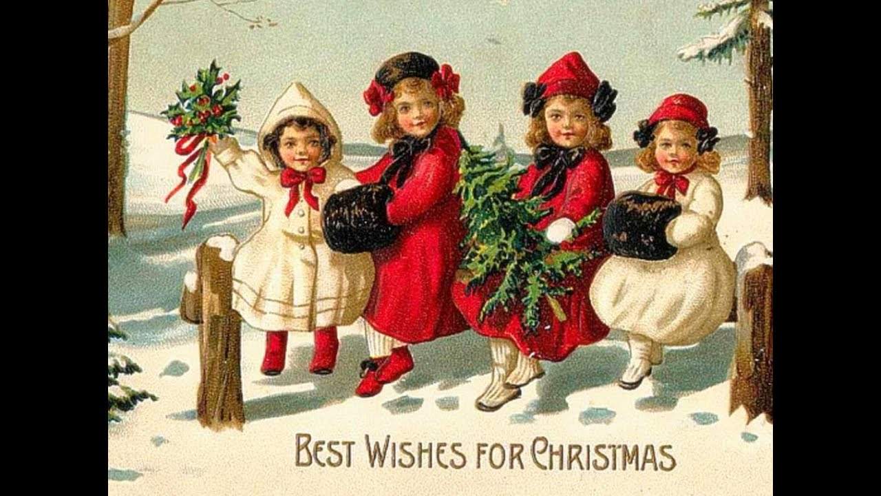 MERRY CHRISTMAS VINTAGE CARD Silent Night MUSIC - YouTube
