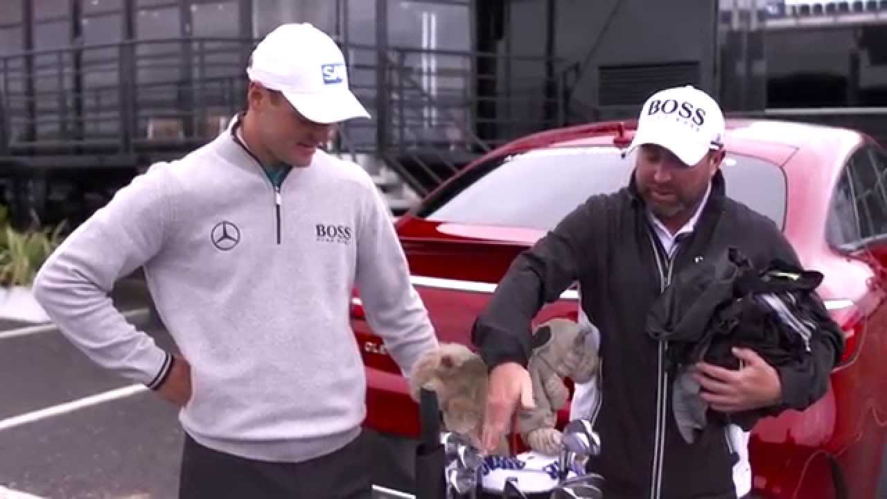 Gw the open mercedes benz golf in the bag with martin for Mercedes benz golf bag