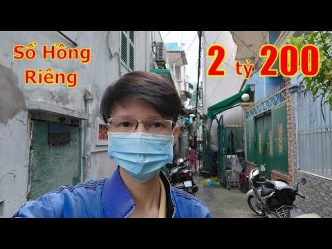 Livestream Bán Nhà Quận 6 Gần Chợ Bình Tây, Nhà 2 Lầu, Sổ Hồng Riêng, Giá 2 Tỷ 200 Triệu (Bớt Lộc)