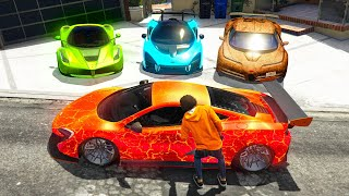 Stealing ELEMENTAL SUPERCARS in GTA 5!