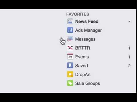 Facebook Favourites Side Bar