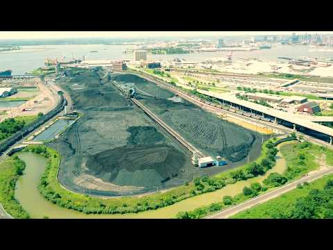 Aerial Tour Of Trump's First Shipment of Coal To Ukraine