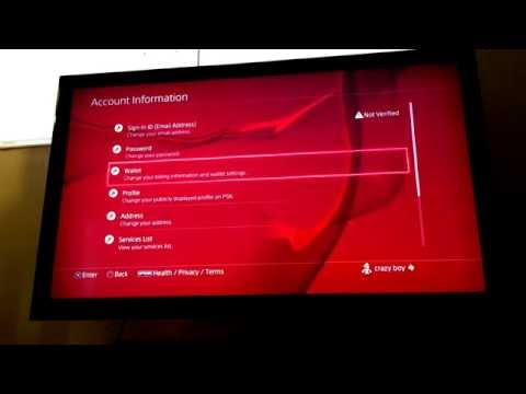 How to add funds to your wallet (PS4)