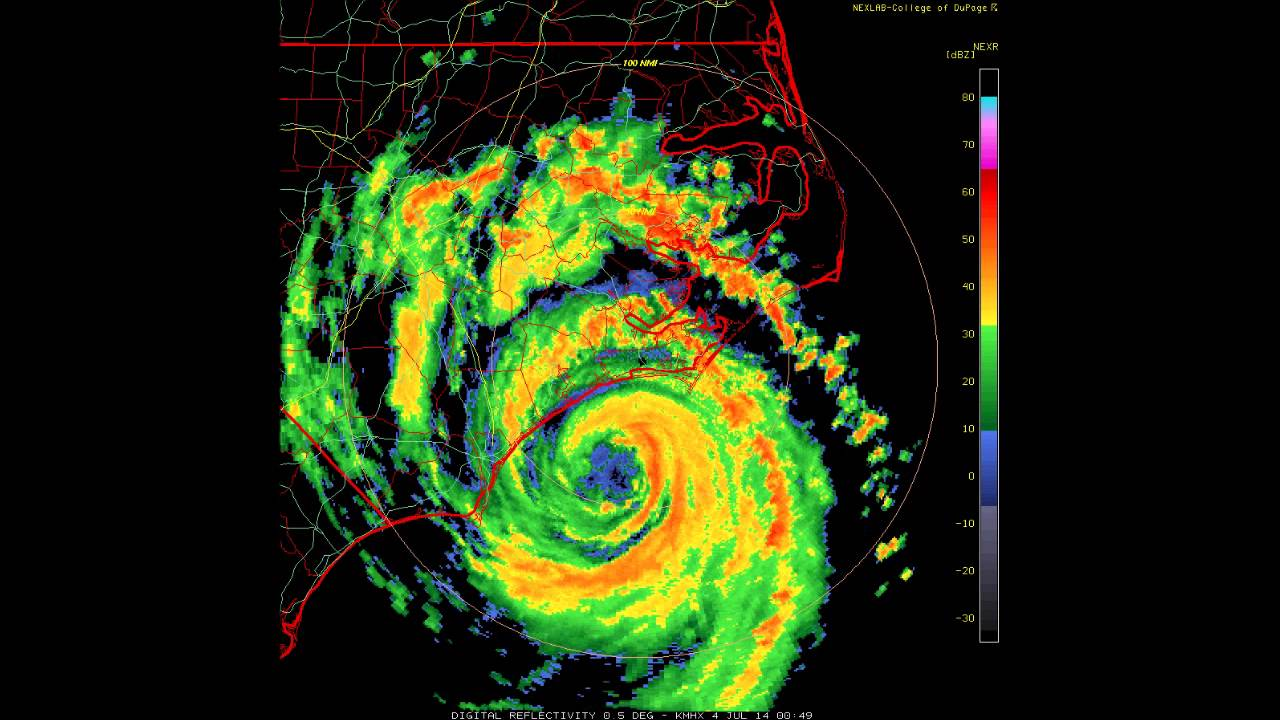 doppler radar hurricane arthur makes landfall july 3 2014 youtube. Black Bedroom Furniture Sets. Home Design Ideas