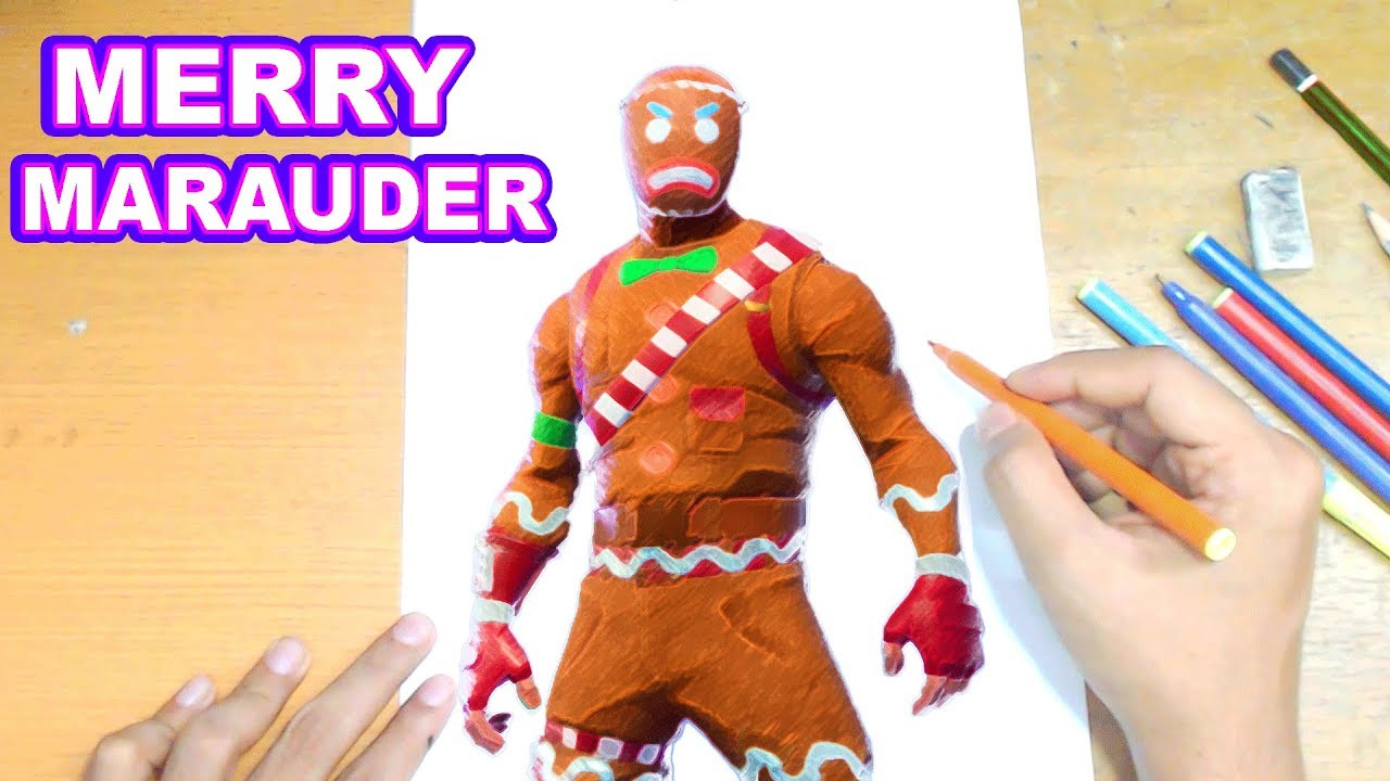 Fortnite Drawing Merry Marauder How To Draw Merry