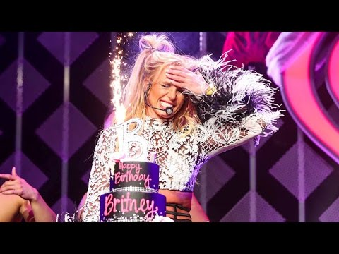 See Britney Spears Gets a Fun 35th Birthday Surprise After Delivering a Hot Performance -- Watch!