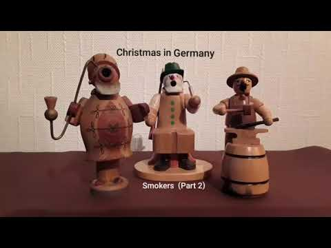 Christmas In Germany  - Old Handmade Smokers From The German Ore Mountain (Erzgebirge)  Part 2