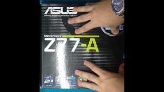 unboxing Asus Z77 A - Portugus