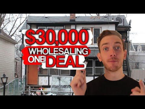 $30,000 Wholesaling ONE DEAL! Real Life Examples of Wholesaling Real Estate!