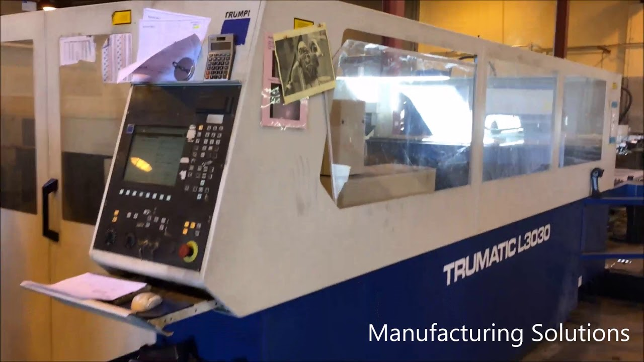 3200 watt trumpf l 3030 cnc laser stock 3044 youtube rh youtube com