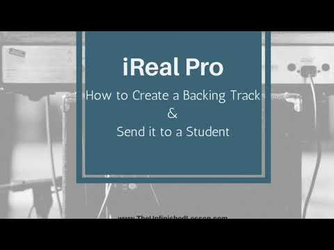 IReal Pro: How To Create A Backing Track & Send It To A Student