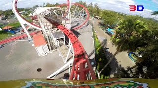 Bullet 3D front seat on-ride HD POV Selva Mágica