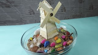 How to Make a Windmill with Ice Cream Sticks | School Project DIY