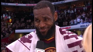 LeBron James Postgame Interview - Game 6 | Celtics vs Cavaliers | 2018 NBA East Finals