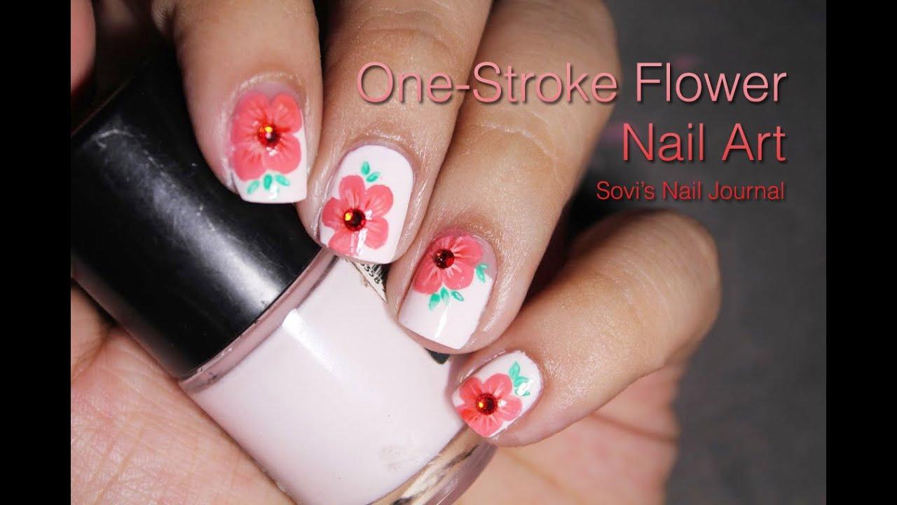 One Stroke Flower Nail Art | Sovi\'s Nail Journal | Dingo Video ...