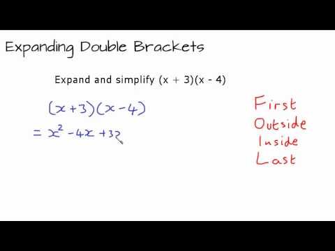 Expanding and simplifying (x + 3)(x - 4) - YouTube