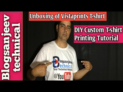 Unboxing of vistaprint t shirt diy custom t shirt for Vistaprint custom t shirts