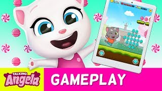 👸The Candy Princess - Talking Angela Plays Talking Tom Candy Run (Gameplay) 🍭