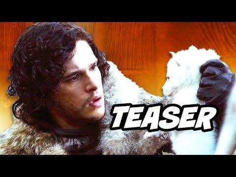 Game Of Thrones Season 8 Ghost Direwolves Teaser Breakdown