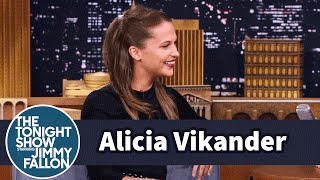 Alicia Vikander on Hacking and Matt Damon