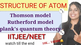 jj thomson plum pudding model