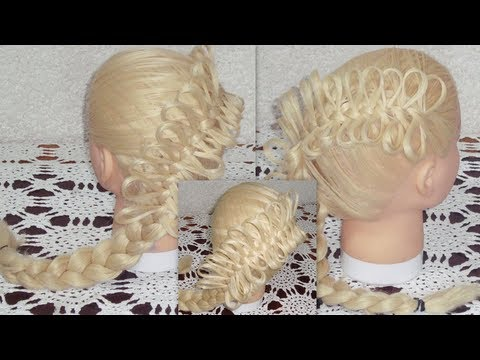 Trenza Francesa con Moños /How to Create a Diagonal Bow Braid/ оплетка с лентами