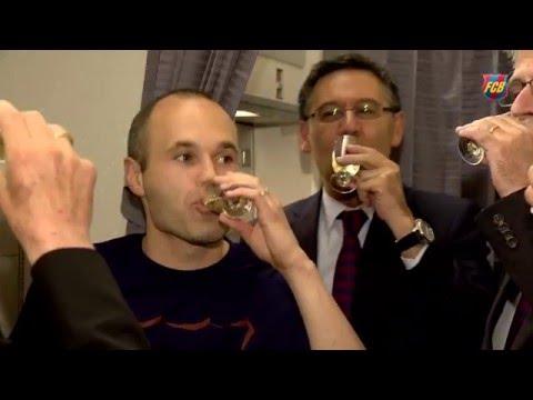 FC Barcelona's League Title celebration 15/16 (IV): The Champions' trip home