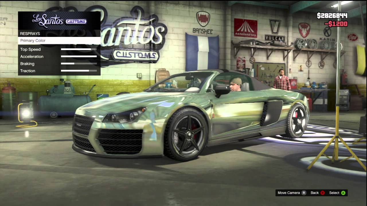 Gta 5 Audi R8 Fully Customized All Chrome Gameplay Review