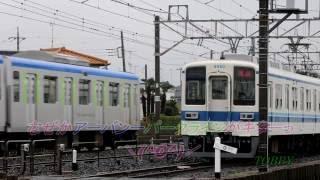 【4両かっ!!】 廃車回送での旅立ち 東武8000系 8560F+8505F 20141201