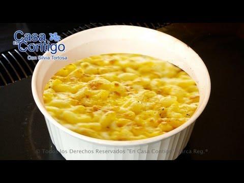 Macarrones con Queso o Macaroni and Cheese Autentica Receta Americana
