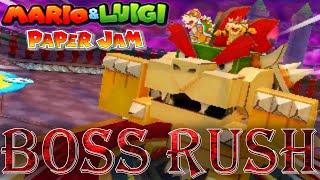 Mario & Luigi: Paper Jam - Boss Rush (All Papercraft Bosses)