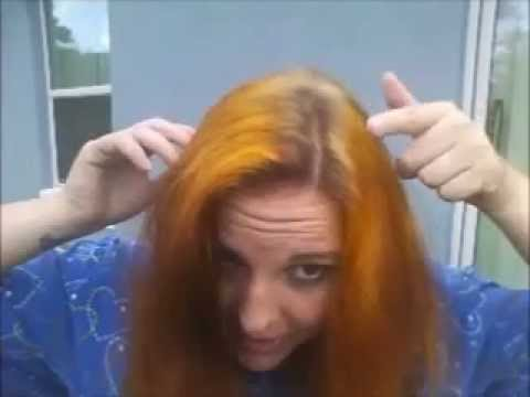 Bleaching Henna Hair Part 2 Youtube