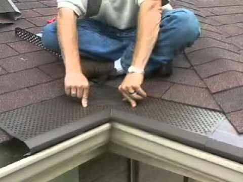 Gutter Protection Install Inside Valley Youtube
