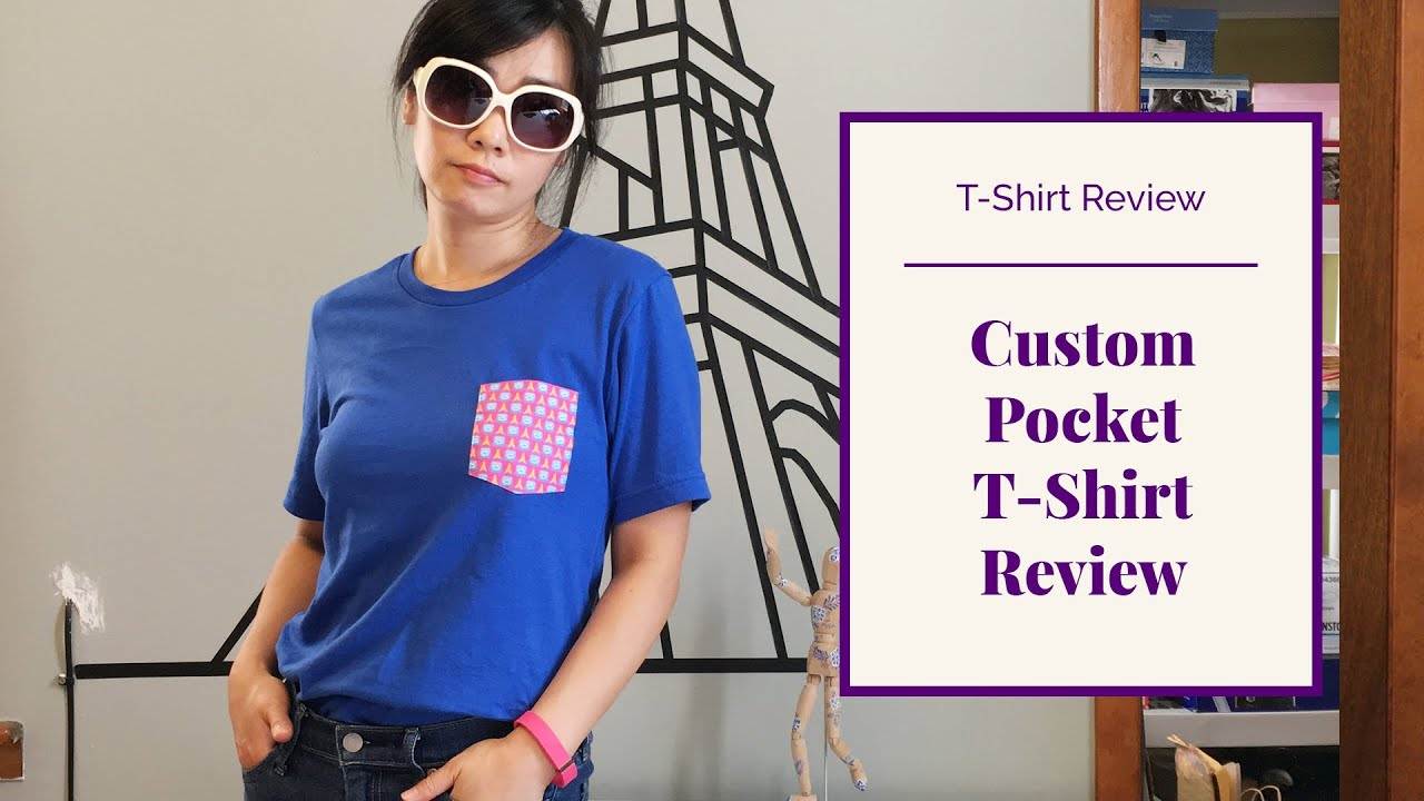 Custom Pocket T Shirt Review Design Your Own Product Youtube