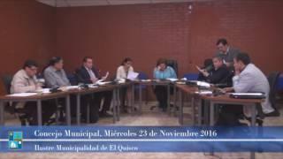 Concejo Municipal Miércoles 23 de Noviembre 2016