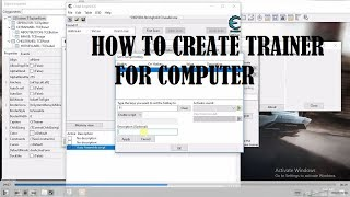 HOW TO  CREATE TRAINER FOR COMPUTER