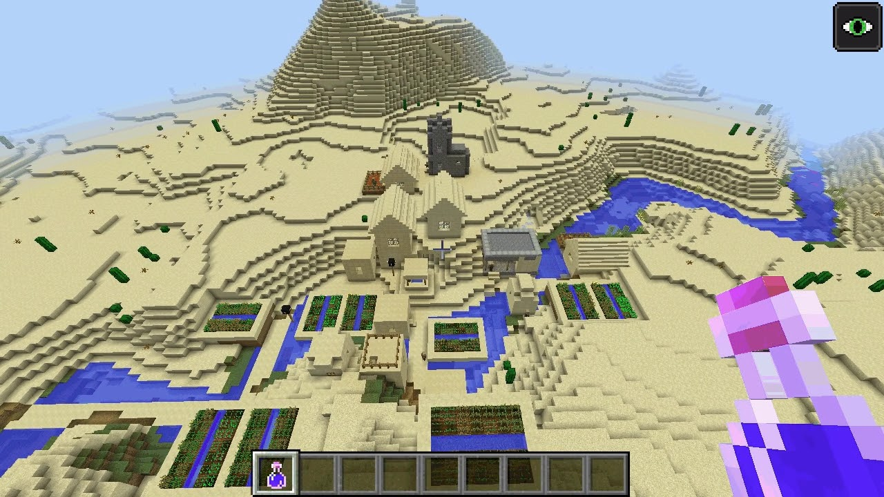 Desert temples and villages at spawn - Minecraft Seeds