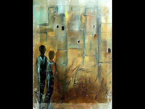Abstract Painting Tutorial , Abstrakte Acrylmalerei Collage