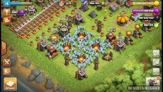 846 ice wizards attacking.clash of clans PRIVATE SERVER