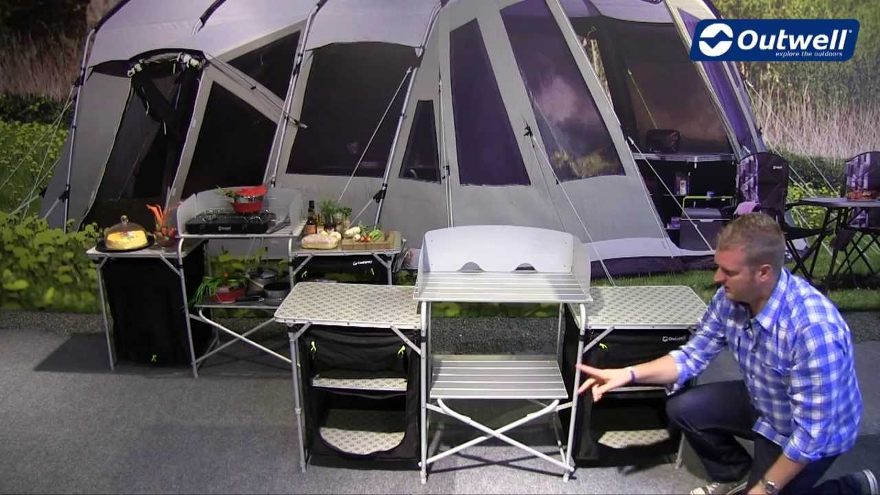 Outwell Kitchen Table Camrose  Innovative Family Camping Youtube