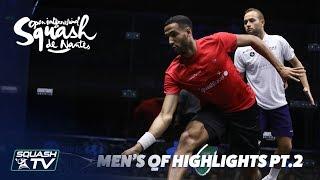 Squash: Men's QF Roundup Pt.2 - Squash de Nantes 2018