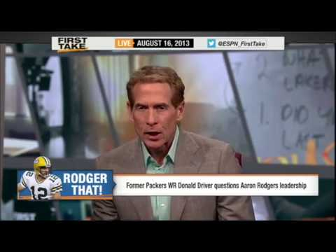 First Take - Donald Driver Talks shit about Aaron Rodgers