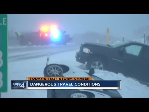 Dangerous Travel Conditions Along I-43 In Sheboygan County
