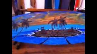 Painted surfboards & art Paul Carter