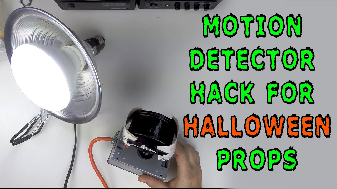how to motion detector hack for halloween props youtube